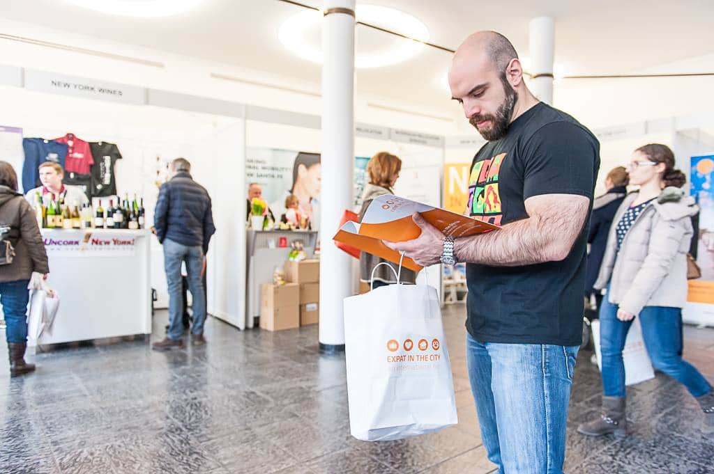 Goodiebags EXPAT IN THE CITY FAIR München 2015