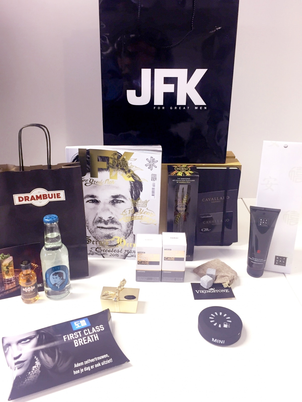 Goodiebags JFK Greatest Man Gala